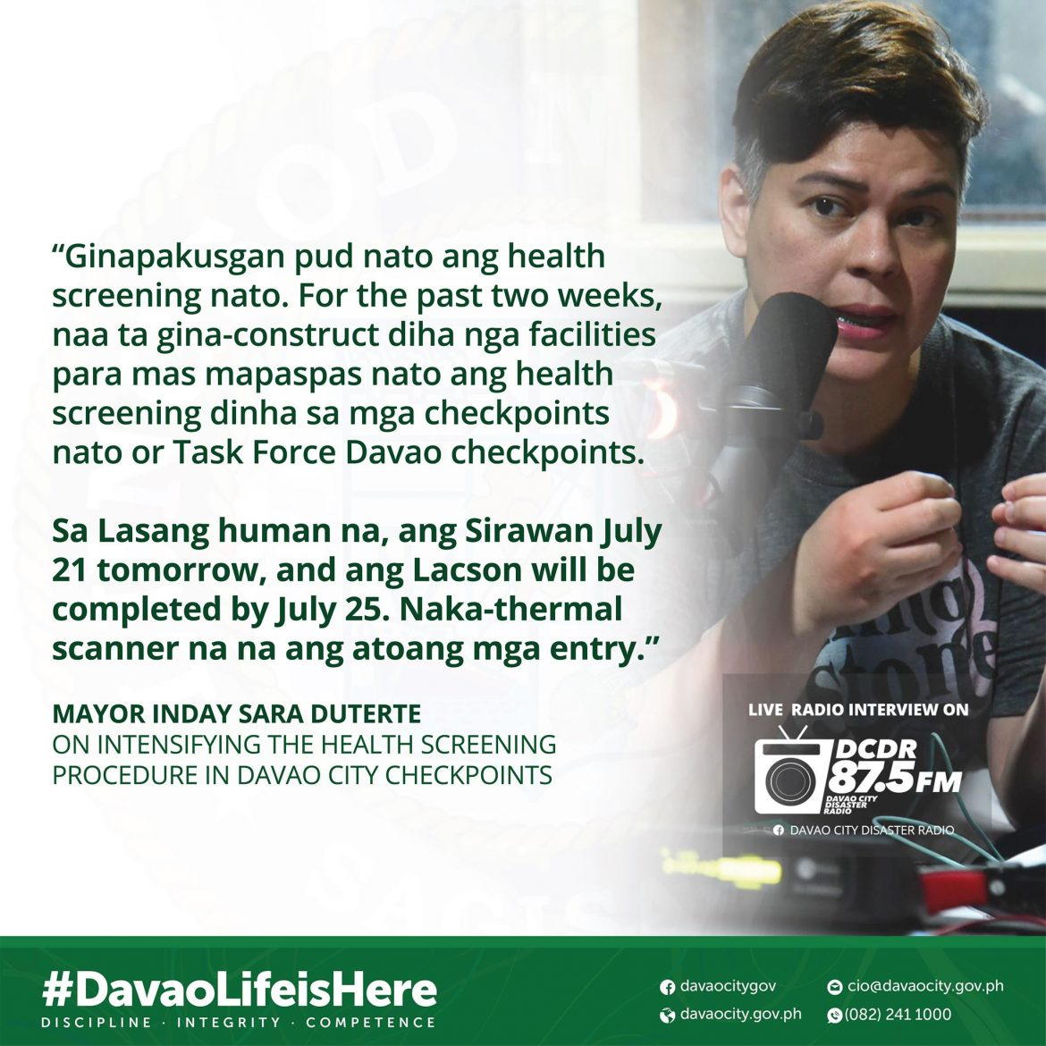 Stricter health screening for land travelers in Davao