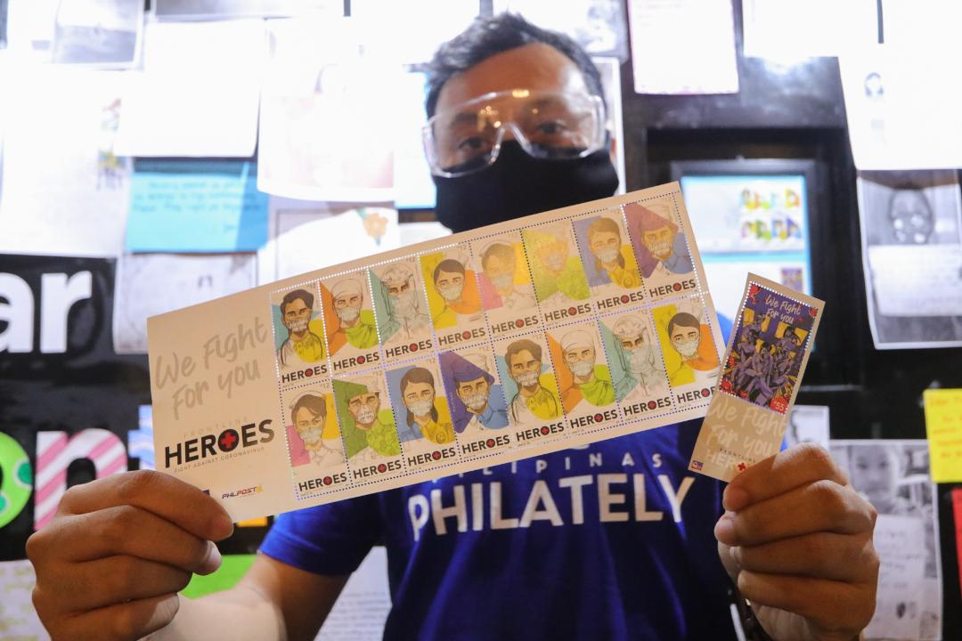 Covid-19 frontline workers honored in new PH stamps