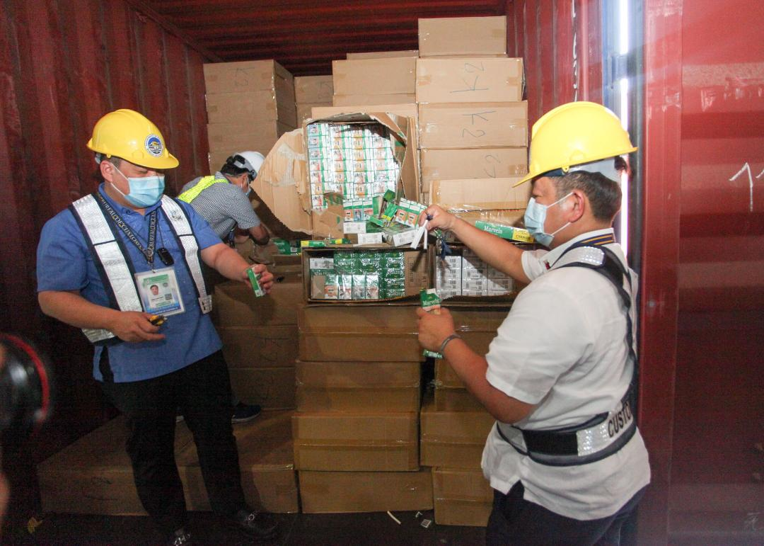 MICP apprehends P186.9M worth of smuggled cigarettes