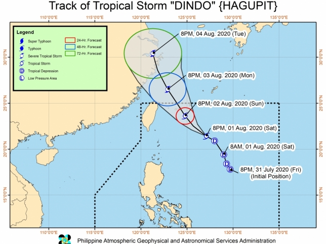 'Dindo' may exit PAR Monday; new LPA spotted