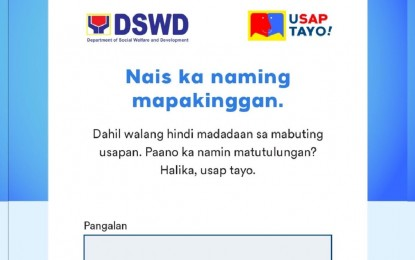 DSWD launches 'uSAPtayo' online for SAP-related concerns