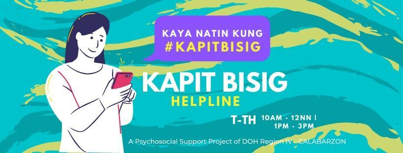 Kapit-Bisig Helpline to Aid Persons with Risks of Mental Disorders
