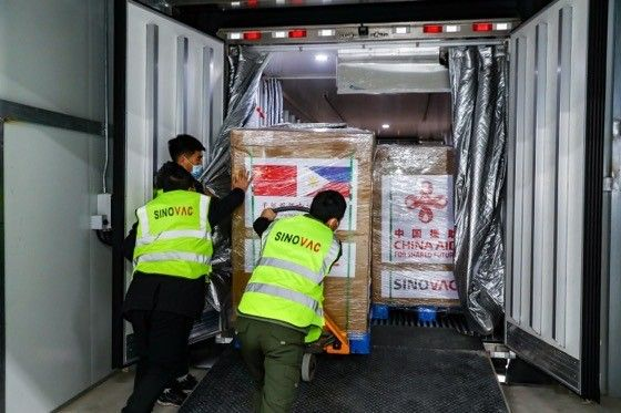 Donated 600K Sinovac doses have landed in PH