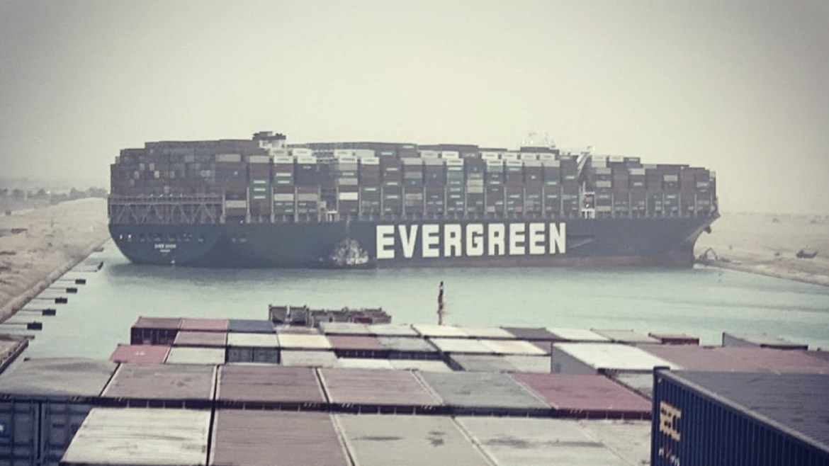 Mega-ship caused traffic at the Suez Canal