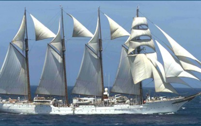 Spanish ship 'Elcano' docks on March 16 for quincentennial