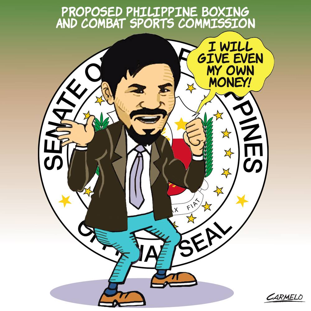 Pacquaio offers own money to help set up Boxing and Combat Sports Commission