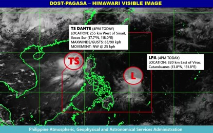 'Dante' decelerates, to bring scattered rains over parts of Luzon