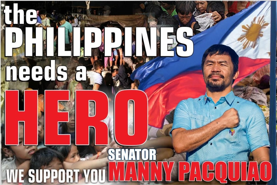 VP not an option for Sen. Manny Pacquiao in '22
