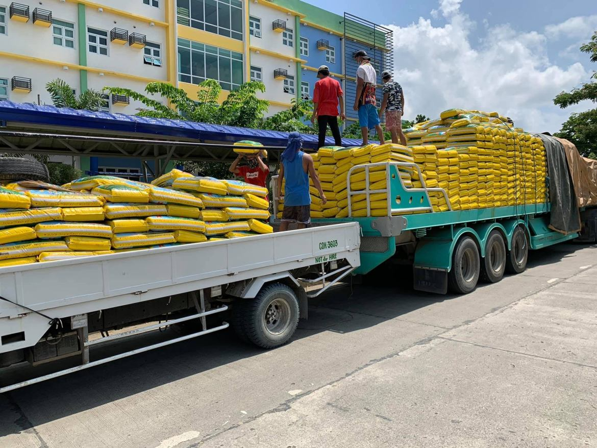 CVMC receives 2K+ sacks of rice from private institutions