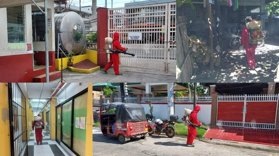 Tarlac City intensifies disinfection activities to stem the spread of Covid