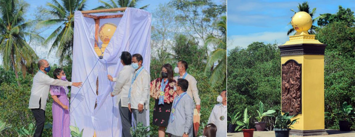1st of 4 quincentennial markers of Magellan's voyages in PH unveiled in Aborlan, Palawan