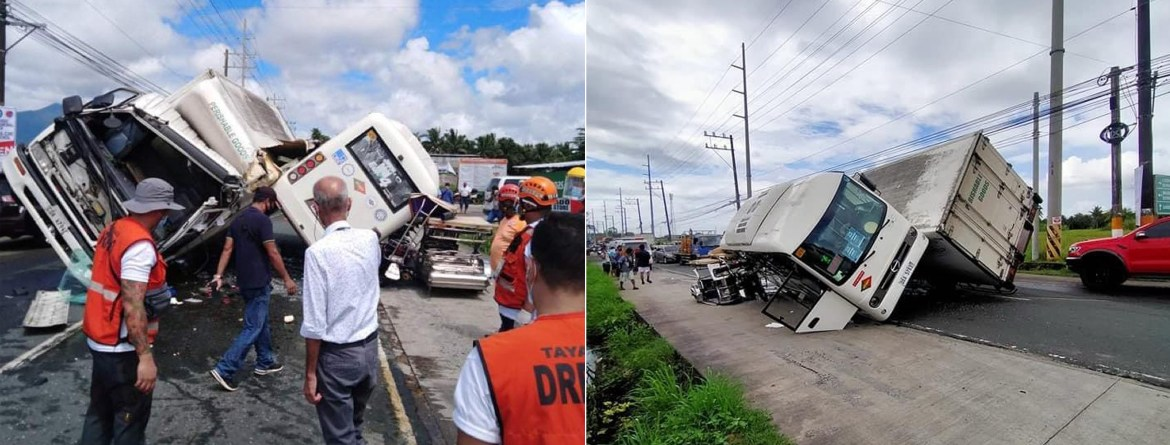 Vehicular accident in Tayabas City causes heavy traffic