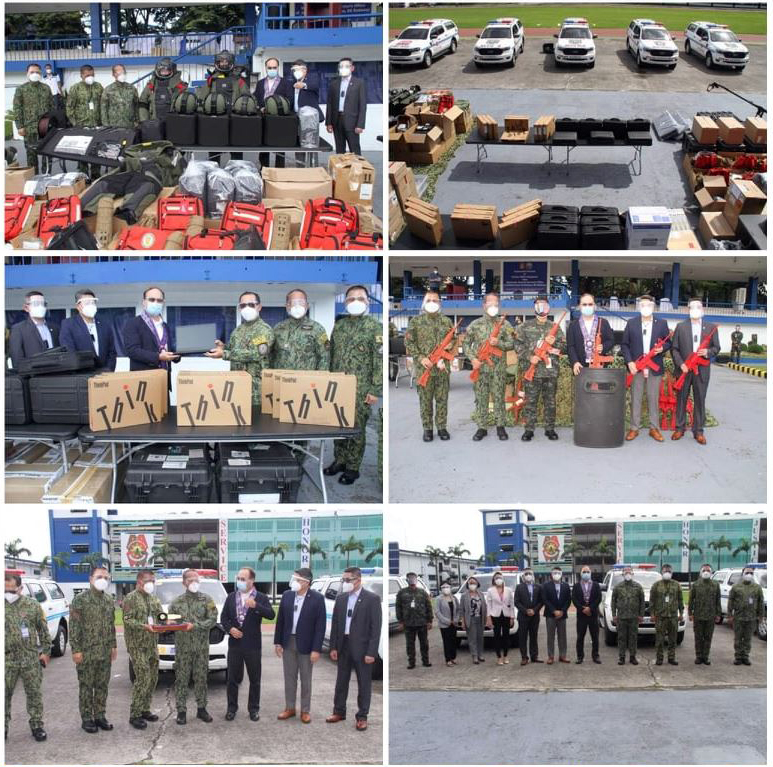 US donates assorted military equipment, vehicles to PNP to boost its anti-terror capability