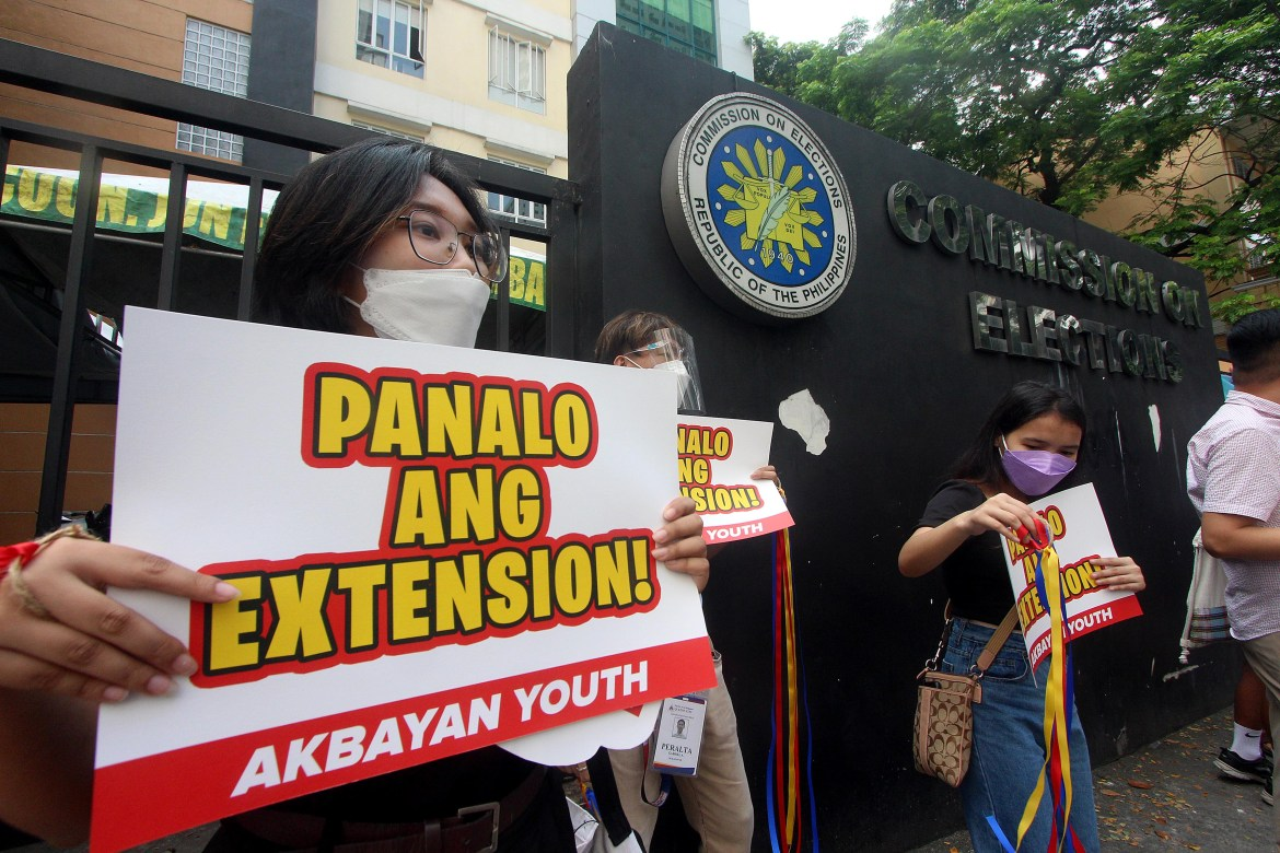 Akbayan Youth celebrate Comelec list up extension