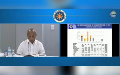 DOE expects 7,712 MW more power supply until 2027