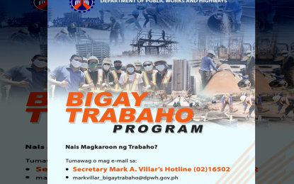 1K workers hired nationwide under DPWH jobs program