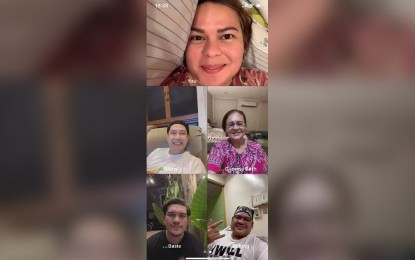 Duterte family wishes Covid-19-hit Pulong well over video chat