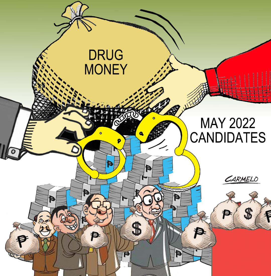 May 2022 candidates warned against using drug money