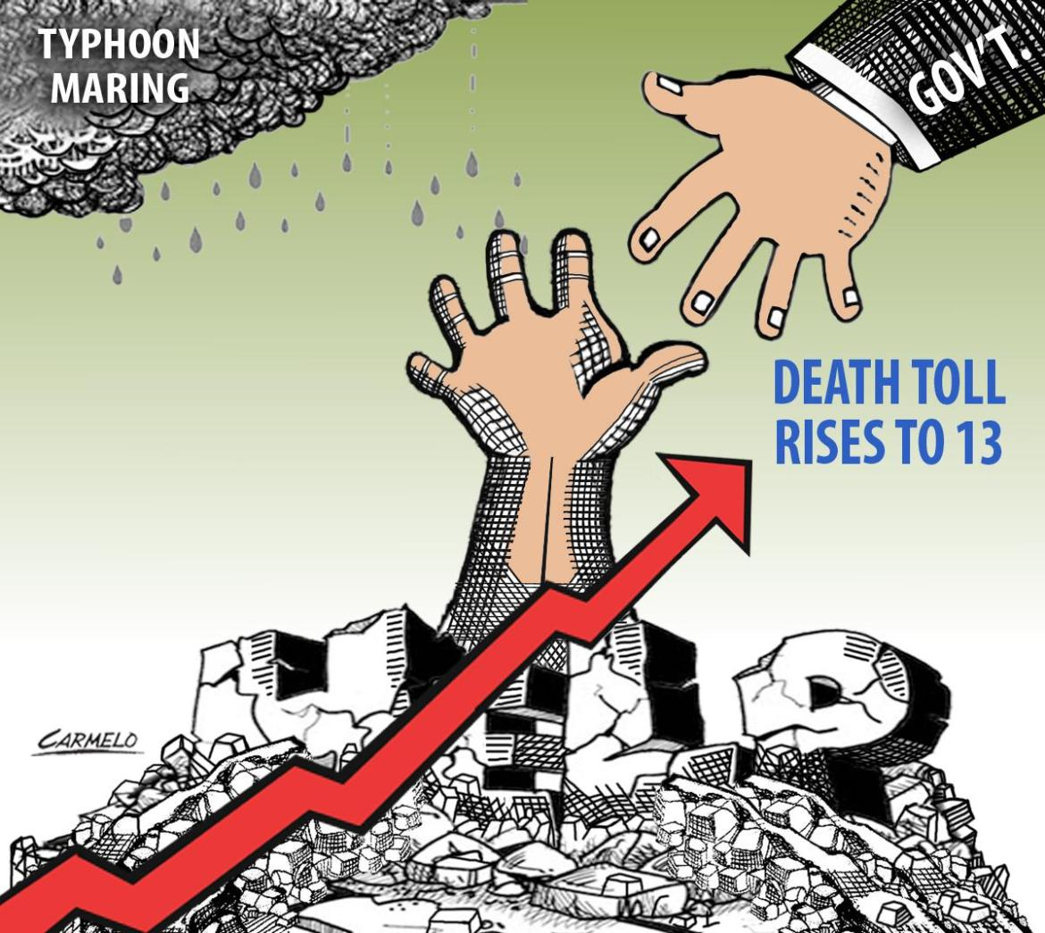 'Maring' death toll rises to 13