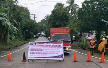 DPWH says 2 nat'l roads remain closed due to 'Lannie'