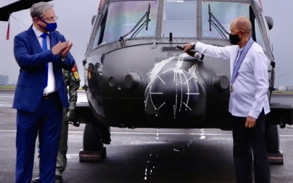 DND chief accepts new Black Hawk choppers, aerial drones