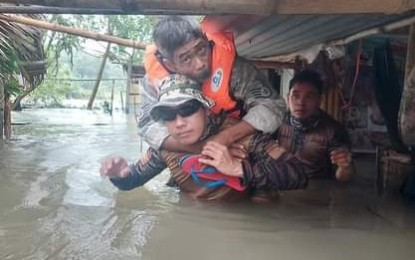 Navy disaster teams conduct rescue ops for 'Maring' victims