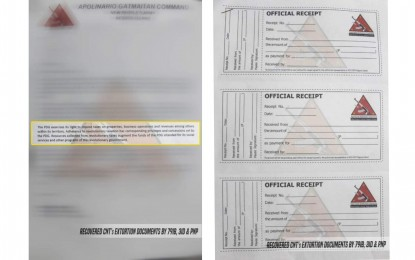 Troops recover NPA extortion letters, receipts in north Negros