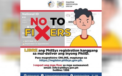 PhilSys applicants warned anew vs. fixers, fees