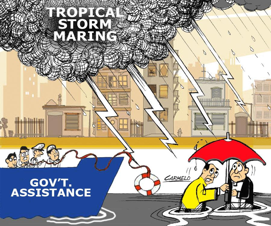 'Maring,' habagat to bring heavy rainfall over parts of Luzon