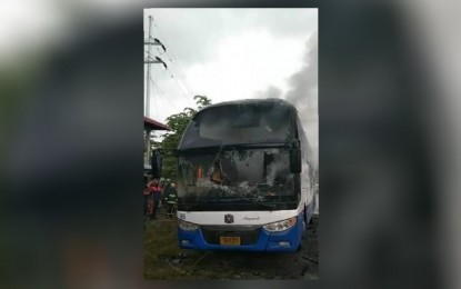 Fire hits passenger bus in Maguindanao